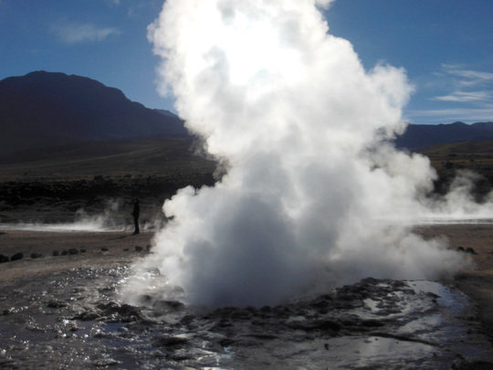 Life at 4,320 meters altitude—El Tatio geyser field in the <span>northern Chilean </span>Andes.