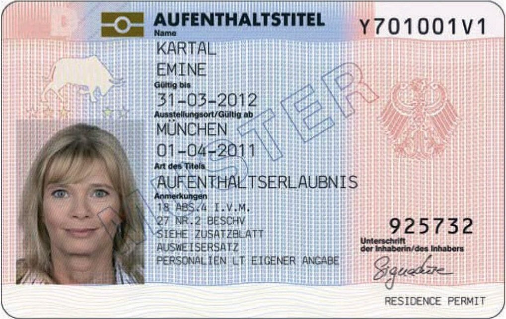 This is what a residence permit looks like