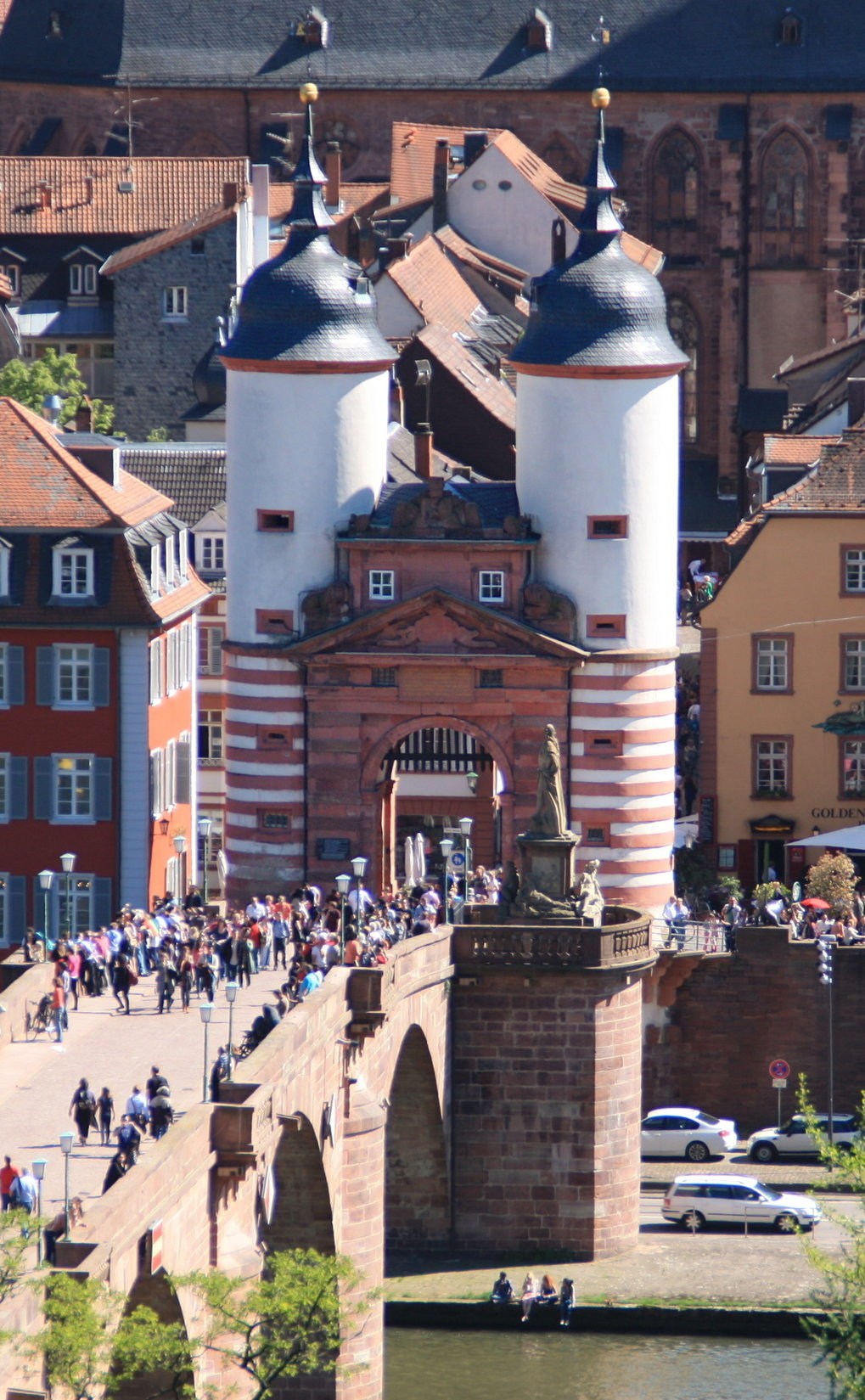 "The gate of Alte Brücke (""Old Bridge""): one of Heidelberg's landmarks"