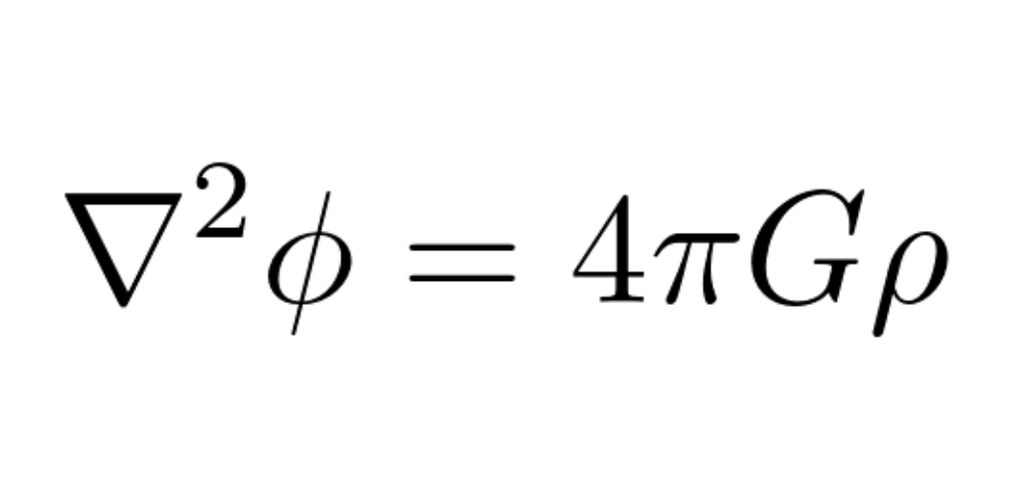 An essential ingredient of our simulations: Poisson's equation for gravity
