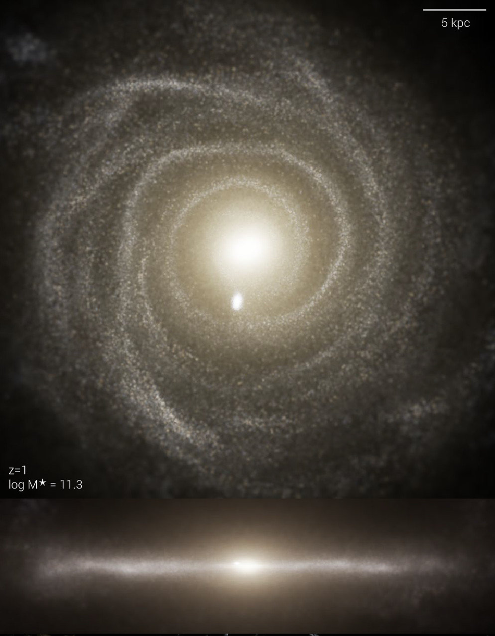 The TNG simulations model the univers from the large-scale cosmic structure right down to the substructure of galaxies.