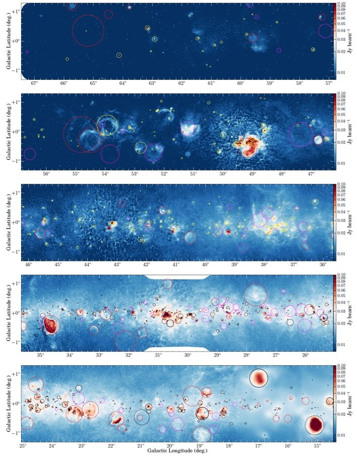 THOR (The HI/OH/Recombination line survey of the Milky Way) is a large program at the VLA to study cloud formation, HI to H2 conversion and feedback processes. This survey of the northern part of the Milky Way (90 square degrees), at a spatial resolution of 15''-20'', observes the atomic, molecular and ionized gas in tracers of HI, OH, radio recombination lines and the cm continuum emission. PI: Henrik Beuther