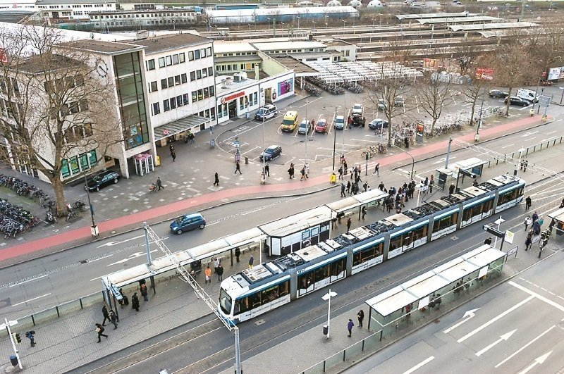 Take the ICE, IC, EC or S-Bahn to Heidelberg Central Station; from there you can reach MPIA by public transport or by taxi.