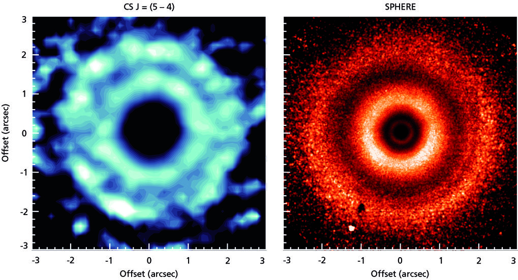Probing the three-dimensional structure of a protoplanetary