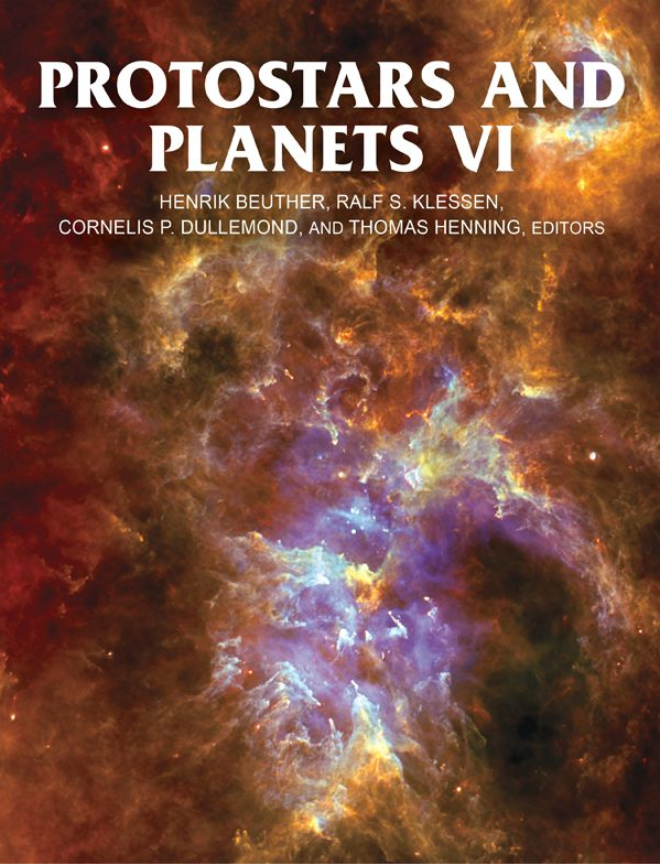 "Title page of the book ""Protostars and Planets VI"", published by the University of Arizona Press."