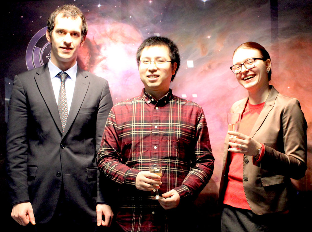 Awardees of the 2019 Ernst Patzer Prizes (Michael Rugel, Daizhong Liu, Irina Smirnova-Pinchukova).